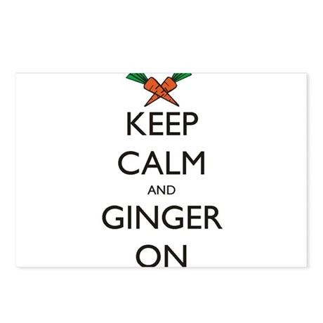 Keep Calm and Ginger On Postcards (Package of 8)