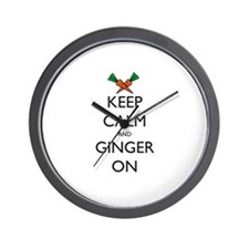 Keep Calm and Ginger On Wall Clock