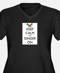 Keep Calm and Ginger On Women's Plus Size V-Neck D