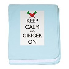 Keep Calm and Ginger On baby blanket