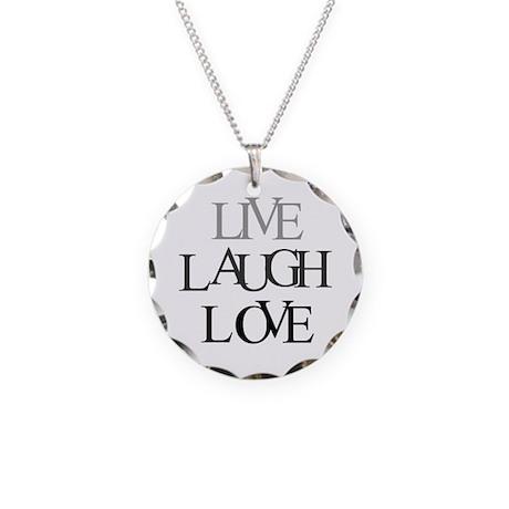 Live Laugh Love Necklace Circle Charm