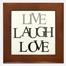 Live Laugh Love Framed Tile