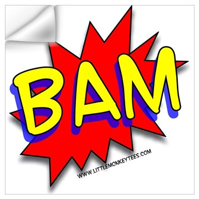 BAM Comic saying Wall Decal