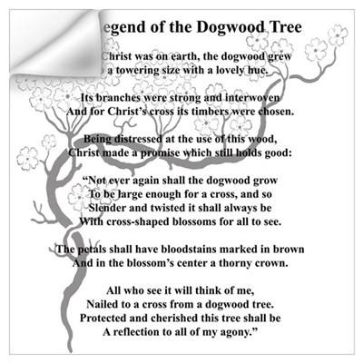 """Dogwood Tree Legend"" Wall Decal"