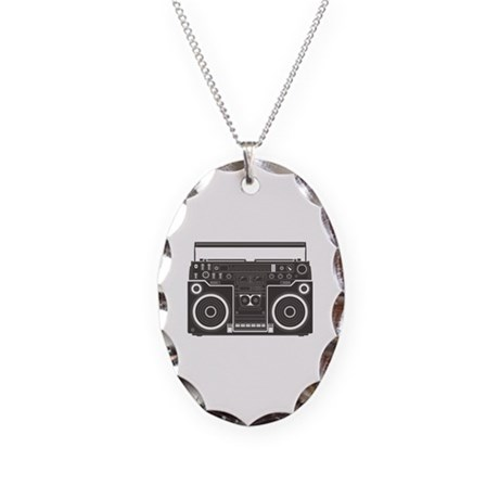 Boombox Necklace Oval Charm