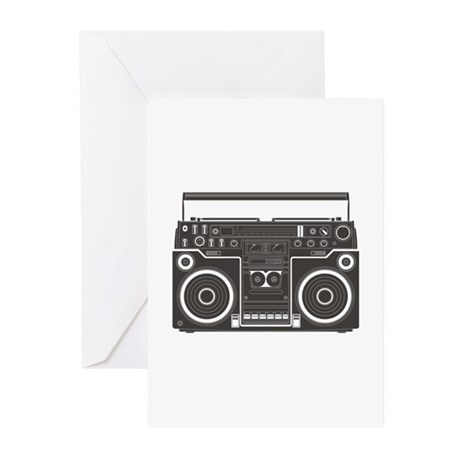 Boombox Greeting Cards (Pk of 10)