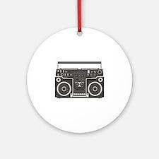 Boombox Ornament (Round)