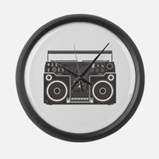 Boombox Large Wall Clock