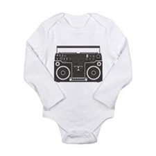 Boombox Long Sleeve Infant Bodysuit