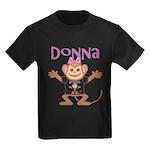 Little Monkey Donna Kids Dark T-Shirt