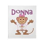 Little Monkey Donna Throw Blanket