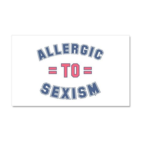Allergic to Sexism Car Magnet 20 x 12