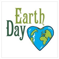 Earth Day green Poster