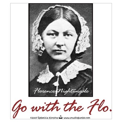 Go with Florence Nightingale! Framed Print