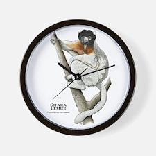 Sifaka Lemur Wall Clock