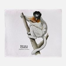 Sifaka Lemur Throw Blanket