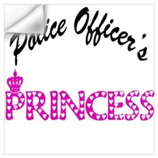 Police Officer's Princess Wall Decal