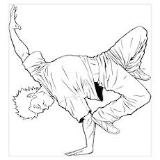 BBoy Elbow Pose Poster