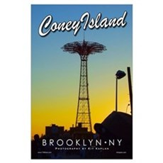 Brooklyn Coney Island Parachute Poster