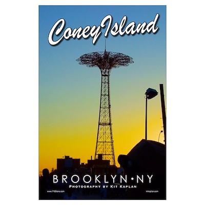 Brooklyn Coney Island Parachute Poster