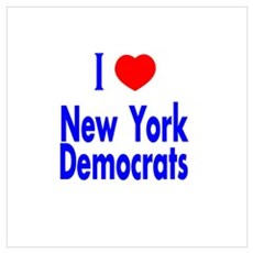 I Love New York Democrats Poster