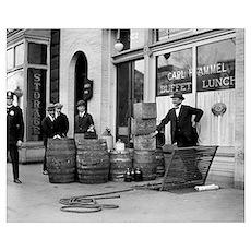 Bootleg Liquor Raid, 1923 Poster