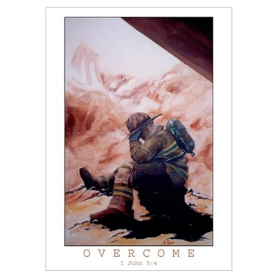 Overcome Framed (colored) Poster