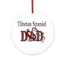 Tibetan Spaniel Dad Ornament (Round)