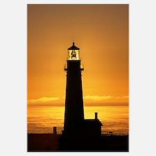"""Yaquina Head Sunset"" 13x16_Framed_Print"