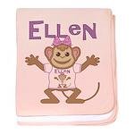Little Monkey Ellen baby blanket