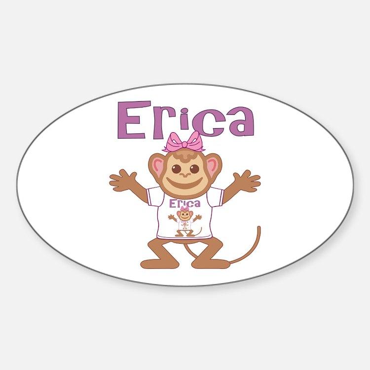 Little Monkey Erica Sticker (Oval)