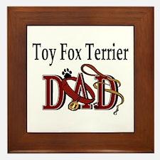 Toy Fox Terrier Dad Framed Tile
