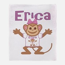 Little Monkey Erica Throw Blanket