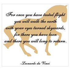 da Vinci flight saying - horse Poster