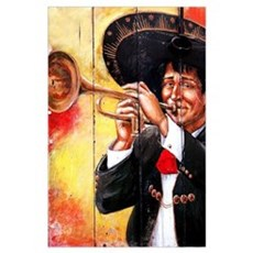 Mexican Mariachi Trumpet Player Print Poster