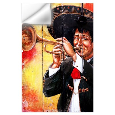 Mexican Mariachi Trumpet Player Print Wall Decal