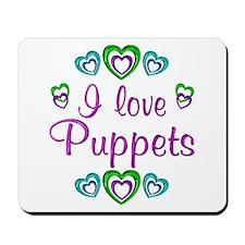 I Love Puppets Mousepad