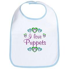 I Love Puppets Bib