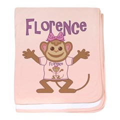Little Monkey Florence baby blanket