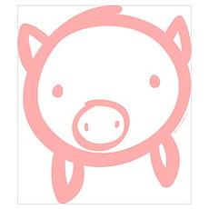 Pig Doodle Poster