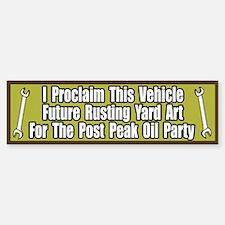 Peak Oil Party Bumper Bumper Bumper Sticker