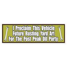 Peak Oil Party Bumper Bumper Sticker