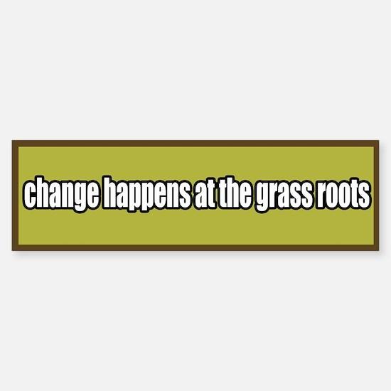 Grass Roots Organizing Bumper Bumper Bumper Sticker