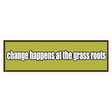 Grass Roots Organizing Bumper Bumper Sticker