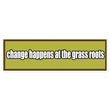 Grass Roots Organizing Bumper Sticker