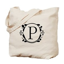 INITIAL P MONOGRAM Tote Bag
