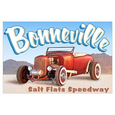 Bonneville Salt Flats 2 Poster