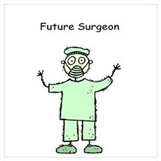 Future Surgeon Green Scrubs Poster