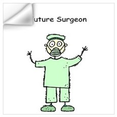 Future Surgeon Green Scrubs Wall Decal