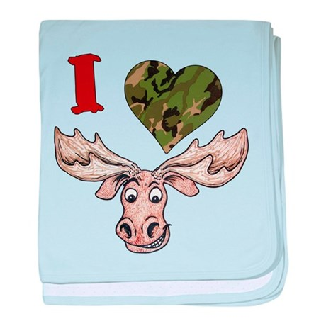 I love a Moose! baby blanket